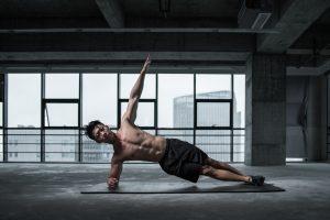 man in yoga pose